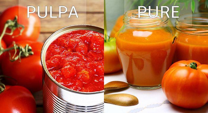pulpa y pure de tomate